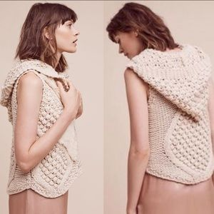 Anthropologie  Pelage Crochet Vest XL